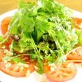 料理メニュー写真トマトとパクチーのエスニック風サラダ