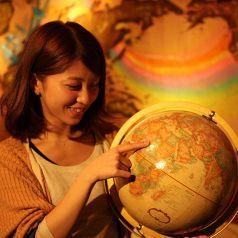 地球儀まわして明日を決められる旅Cafe☆