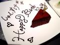 料理メニュー写真とろける生チョコケーキ