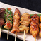 三河鶏の串焼き六種盛り合わせ