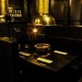 4名のテーブル席です。七輪で焼き上げる上質肉はこだわりの特製ダレでどうぞ☆濃厚でパンチのあるタレに食べ応え抜群の焼肉を!