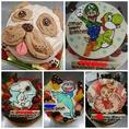 誕生日や記念日がよりステキな思い出になるように、当店ではキャラクターケーキの作成を承っております。