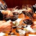毎月第4水曜日には『ワイン会』も開催中。ワイン好きのお客様はもちろんワインを飲み慣れてないお客様にもオススメです。