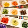 料理メニュー写真手作りの韓国おかず