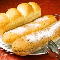 自慢の自家製パンとデザート♪