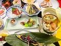 料理メニュー写真きづな会席  旬の食材を使った豪華な会席料理です。