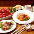前菜、パスタ、ドルチェなどその日獲れた新鮮な食材を使ったお料理を気軽に。お得なランチセットも
