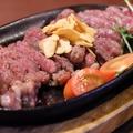 料理メニュー写真メガ牛肩ロース赤身ステーキ