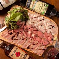 宴会コースでしか食べられない『石窯肉ロースト3種盛』