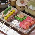 料理メニュー写真7本セット(ねぎま(塩・たれ)・つくね(塩・タレ)・砂肝・豚バラ・ししとう・ささみ梅じそ・うずら玉子)