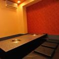 ふんわりした座布団が心地よい個室。ご予約がオススメです!