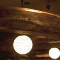 店内に散りばめられた日本家屋が大きな特徴