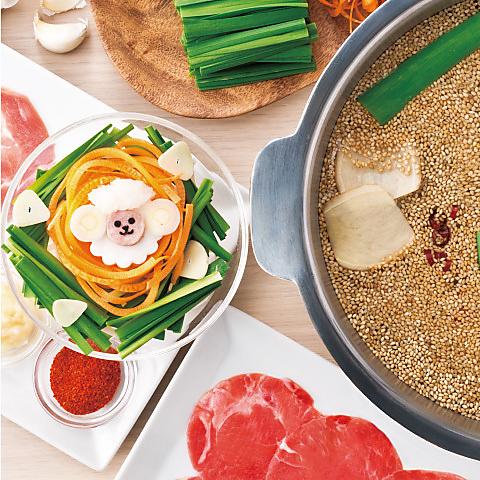 ≪しゃぶしゃぶ≫スタミナラムしゃぶ 肉ノ寿司食べ放題コース 3280円(税抜)