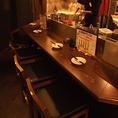 調理するところも見れるカウンター席!!心地よい空間で、デートや少人数でのサク飲みにいかがでしょうか?
