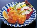 料理メニュー写真本タラバかに一口フライ