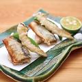 料理メニュー写真秋刀魚と松茸の天婦羅
