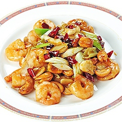 蝦のチリソース煮/イカの四川風炒め/芝エビとカシューナッツ炒め