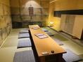 仲の良い友人や会社宴会など様々なシーンでお使い頂ける個室完備