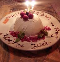 誕生日や、結婚記念日の方にはケーキサービスあり♪