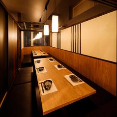 【個室8名様まで】柔らかな間接照明が照らす大人の隠れ家…高級感溢れる和空間でご宴会!各種宴会や接待にもオススメ♪千葉駅で個室居酒屋の歓送迎会/会社宴会なら当店にお任せください!雰囲気抜群な完全個室を多数ご用意しております!贅沢なプライベート空間でご宴会をお楽しみください♪
