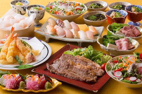 【味ごのみ50選】牛ロース、鮨、天婦羅など50種類以上オーダービュッフェ