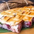 料理メニュー写真蒸し穴子の箱寿司