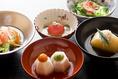 おでん懐石。伝統の金澤おでんに加えて、肉料理やアワビのおでんがついたコースです。ディナー限定のお料理ですのでお出かけ帰りなどのお夕食に是非おたちよりください。
