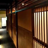 扉付きの完全個室/2名~最大8名様用の完全個室をご用意しています。