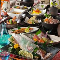 コース3000円~/食材にこだわった料理でおもてなし