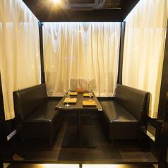 ゆったりソファの半個室です。(当店でご用意している全席が半個室となります)※系列店舗との併設店舗となります