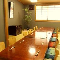 広々としたお座敷の個室は最大30名様までご利用可能。