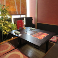 【個室席】周りを気にせずお食事を楽しんで頂けます。