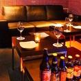 ゆったりソファー個室を完備!!女子会・合コン・誕生日会に最適です♪♪♪プライベート空間でオリジナルクラフトビールと薪窯ピザを楽しもう★