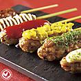 鶏串の他にも野菜串など豊富な種類の焼き鳥&串料理!お酒との美味しいコラボが楽しめます。