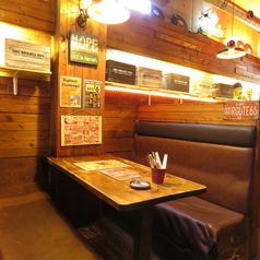 壁際の半個室席【心斎橋 なんば アメ村 食べ放題 女子会 合コン 歓送迎会 貸切 飲み放題】
