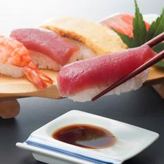 寿司(まぐろ、海老、貝、サーモン、玉子)