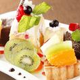 誕生日やお祝いには特製デザートプレートでサプライズ☆