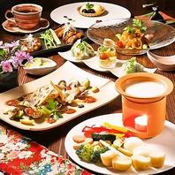 九州の旬の食材が楽しめるお料理の数々。