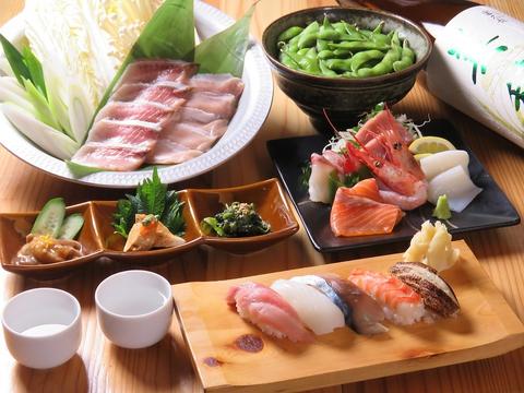 築地で仕入れた鮮魚を堪能!!お寿司やお刺身をつまみにお酒を楽しむ居酒屋◎
