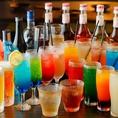 飲み放題付きコースも豊富にご用意しております★ドリンクも満足の130種類以上!!あまりの種類の量でご注文に困っちゃうなんてことも・・・