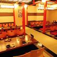 最大75名様のご宴会もご予約承っております!8名席、12名席、15名席のご用意があり、人数様に応じてお席を繋げることが出来ます。※人数の変動によりお席が変わることもございます。