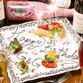 お誕生日のご予約は是非当店で♪お客様のスタイルに合わせて1,500円(税抜)より承ります。