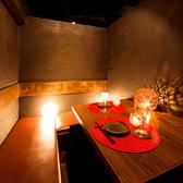 お友達と大切な方との大切な時間を過ごせるプライベートな少人数個室。デートや女子会に◎居心地の良い個室はつい時間を忘れてしまいます