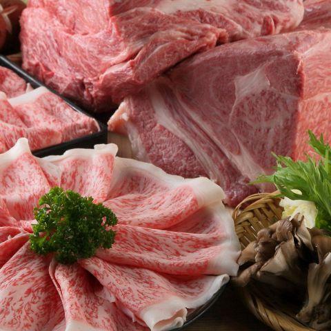 【食べ放題】神戸牛しゃぶしゃぶorすき焼きコース7980円(税別)