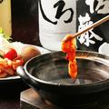 料理メニュー写真蛸チゲしゃぶ(韓国風のチゲ出汁で召し上がって頂きます。)