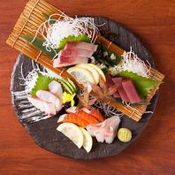 新鮮な鮮魚のお造りも。