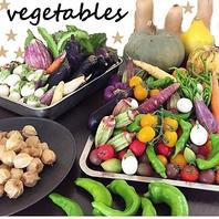 無農薬の有機野菜。