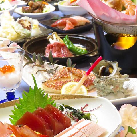 季節を堪能するなら【なぶら】地魚・旬魚・旬菜…旨いを体感!コース4500円~ご用意。