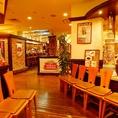 ニッタビル地下1階が当店です。中世ドイツの雰囲気が広がる店内で非日常をお楽しみください。