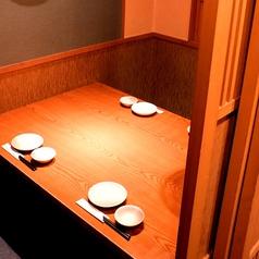 4名様用半個室テーブル。平日での飲み会やサク飲みに♪